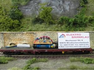 Werbewagen von Elektro Bärnklau