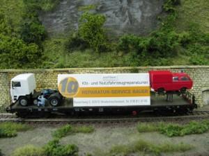 Werbewagen von Bauer Reparaturservice
