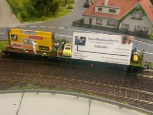 Werbewaggon von Modellbahnzubehör Kuhnke
