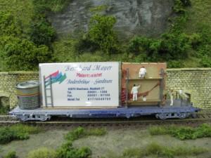 Werbewagen des Malerbetrieb Mayer