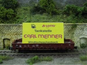 Werbewagen der Tankstelle Menner