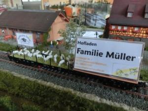 Werbewagen des Schäferhof Müller