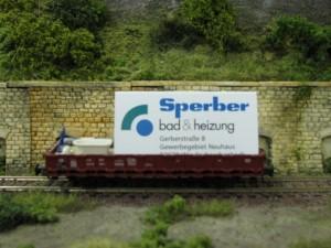 Werbewagen von Sperber Bad und Heizung