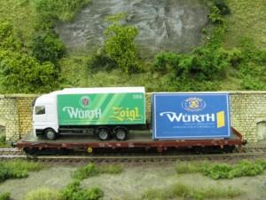Werbewagen der Brauerei Würth