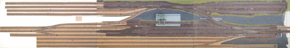 Betriebsstelle Rangierbahnhof von oben