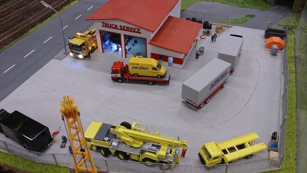 reger Betrieb beim Truck Service