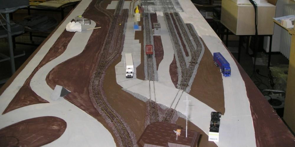 Containerterminal im Bau