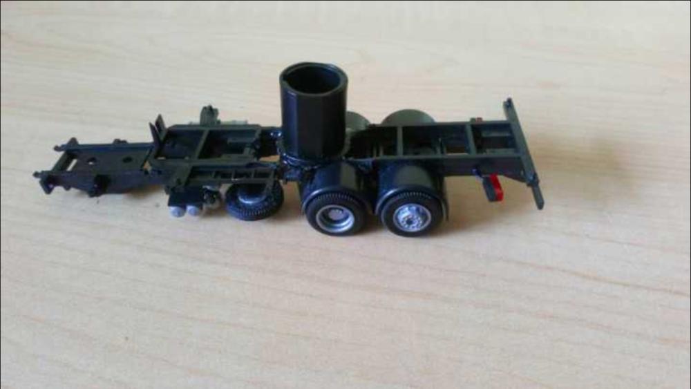 Der Motorhalter ist in den Rahmen eingebaut.