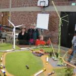 Wir tun etwas für umweltfreundliche Energiegewinnung: Hoch hinaus geht es auf der Baustelle unseres Windparks